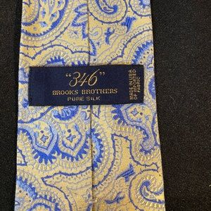 Blue & Yellow Brooks Brothers Tie
